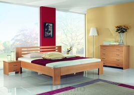 ANETA posteľ z masívu hrúbky 4 cm, FMP