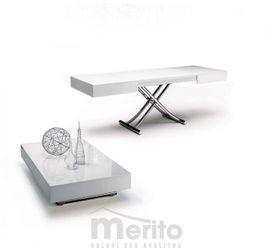BOX stôl multifunkčný 2v1 sklenený rozťahovací výškovo nastaviteľný OZZIO