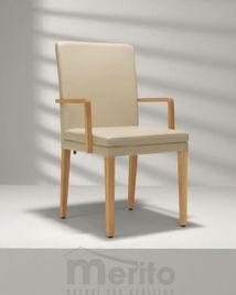D 20-3/4 stolička s masívnymi nohami a podrúčkami, Hülsta
