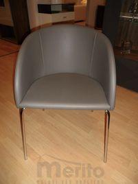 S19-2 dizajnová stolička - kresielko šedé ihneď k odberu, now!by Hülsta