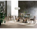 AXIS dizajnový stôl s masívnou nohou švorcový tvar