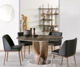 AXIS dizajnový stôl s masívnou nohou oválny