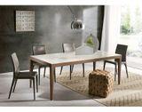 DOMINIQUE dizajnový stôl s masívnými nožičkami rozkladací