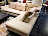 ENJOY elegantná kožená sedačka s rozkladom a funkciami posuvu sedáku Willi Schillig výpredaj