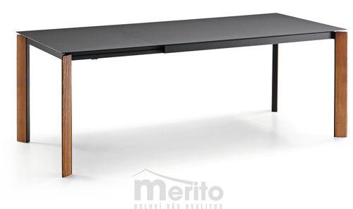 BLADE Jedálenský stôl s rozťahovaním sklo/kov/dyha/fenix/crystalkeramika MIDJ