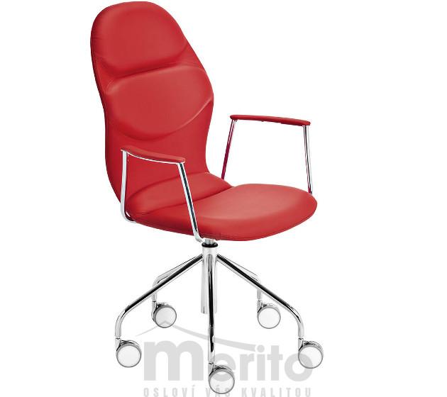 c63a5ab652d3 ITALIA D-A dizajnová kancelárska stolička na kolieskach vysoká MIDJ ...