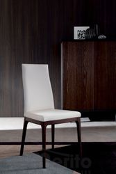 BLUES jedálenská stolička koža/drevo OZZIO
