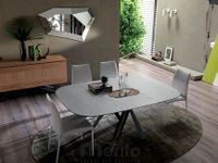 BOMBO dizajnový zaoblený jedálenský stôl rozťahovací OZZIO