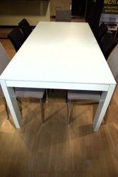ET 20 Jedálenský stôl rozkladací biely lak 300cm, now!by Hülsta