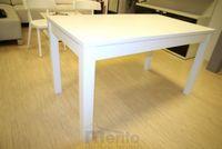 LOTOS jedálenský stôl pevný 140 cm masív lakovaný na bielo Fines