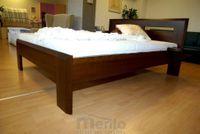 TIMEA masívna posteľ hrúbky 4cm buk morený 160cm