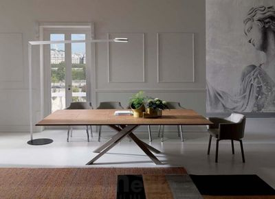 4x4 dizajnový jedálenský stôl s rozťahovaním OZZIO