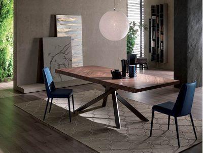 4x4 FISSO dizajnový jedálenský stôl dyha OZZIO