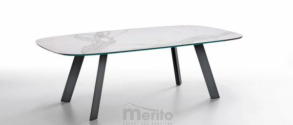 ALEXANDER jemne oválny botte dizajnový stôl rôzne prevedenia MIDJ