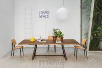 ALFRED Jedálenský stôl pevný lakované drevo/kov MIDJ
