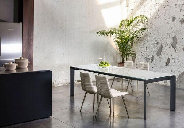 APOLLO Jedálenský stôl s rozťahovaním drevo/kov MIDJ