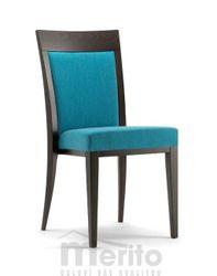 ATLANTA dizajnová stolička S masívne nožičky rôzne morenia látka koža