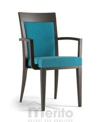 ATLANTA dizajnová stolička s podrúčkami SB masívne nožičky rôzne morenia látka koža
