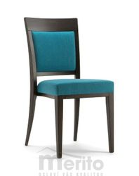 ATLANTA dizajnová stolička SA masívne nožičky rôzne morenia látka koža