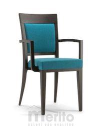 ATLANTA dizajnová stolička kreslo SBA masívne nožičky rôzne morenia látka koža