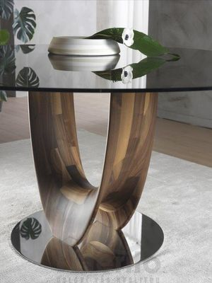 AXIS dizajnový stôl s masívnou nohou kruhový