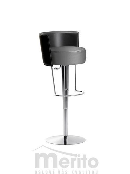 BONGO TS RC barová stolička výškovo nastaviteľná s koženou opierkou Midj