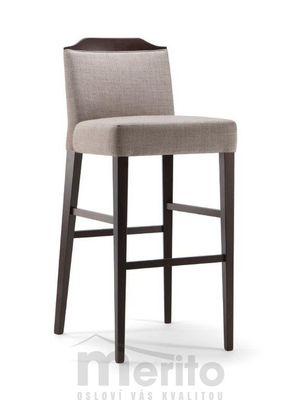 BOSTON dizajnová barová stolička SG masívne nožičky rôzne morenia látka koža