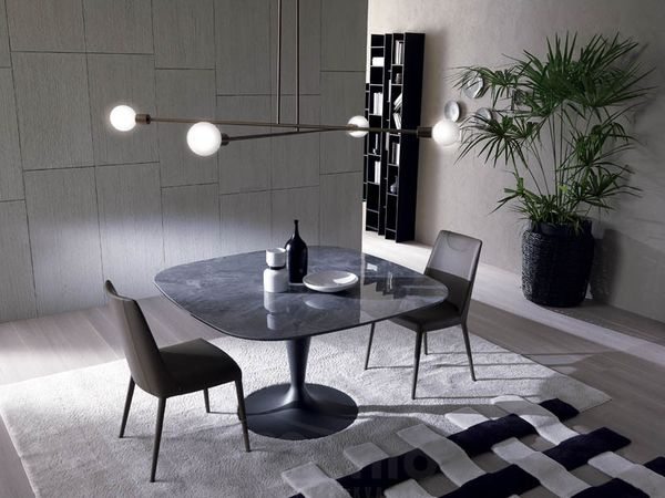 BRAVO krúhly jedálenský stôl pevný OZZIO