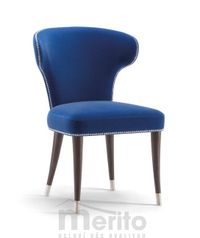 CAMELIA dizajnová stolička S masívne nožičky rôzne morenia látka koža