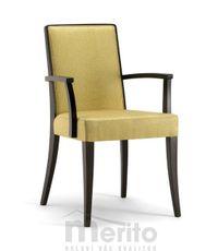 CANNES dizajnová stolička s podrúčkami SB masívne nožičky rôzne morenia látka koža