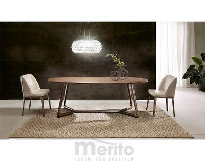 COVER oválny dizajnový stôl s masívnou nohou