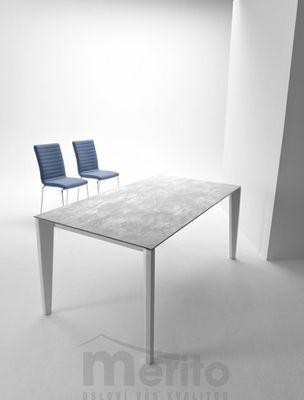 DIAMANTE Jedálenský stôl s rozťahovaním keramika/kov MIDJ