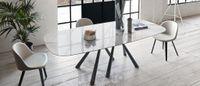FOREST jemne oválny botte dizajnový stôl rôzne prevedenia MIDJ