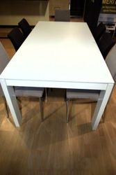 Jedálenský stôl ET 20 rozkladací biely lak 300cm, Hülsta now