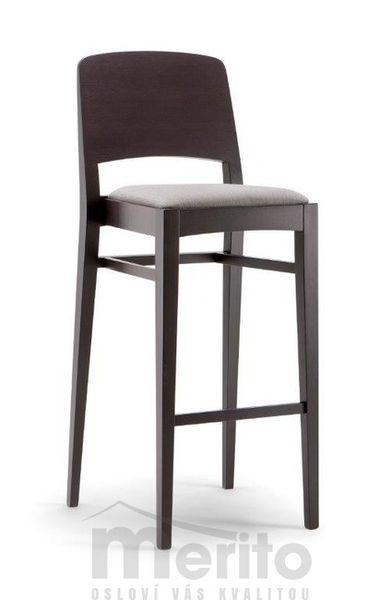 KYOTO dizajnová barová stolička SG pevná opierka masívne nožičky rôzne morenia