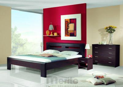 TIMEA posteľ z masívu hrúbky 4 cm, FMP