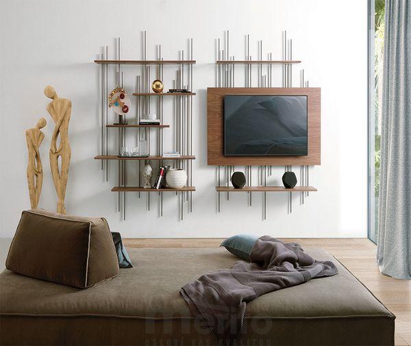 TUBE Dizajnový TV panel alebo knižnica Pacini & Cappellini